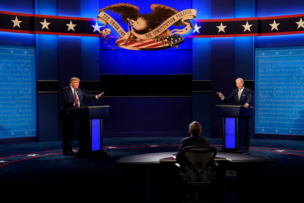 President Trump and Joseph R. Biden Jr. faced off on Tuesday in their first presidential debate, in Cleveland.