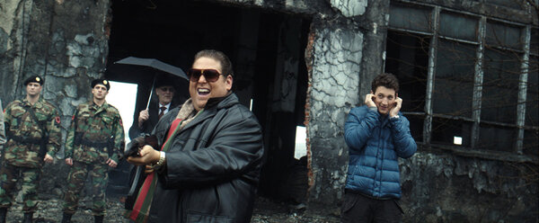 """A onetime arms dealer, portrayed by Jonah Hill in """"War Dogs,"""" has been involved in federal contracts to make disposable medical gowns."""