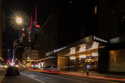 After tourism dried up, the InterContinental in Times Square was transformed into housing for doctors and nurses treating coronavirus patients.