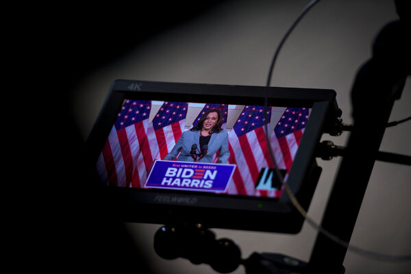 Senator Kamala Harris is at the center of a new ad the Biden campaign is running ahead of Wednesday's vice-presidential debate.