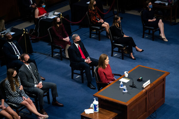 """""""Judges cannot just wake up one day and say, 'I have an agenda — I like guns, I hate guns, I like abortion, I hate abortion,' and walk in like a royal queen and impose their will on the world,"""" Judge Amy Coney Barrett said on Tuesday."""