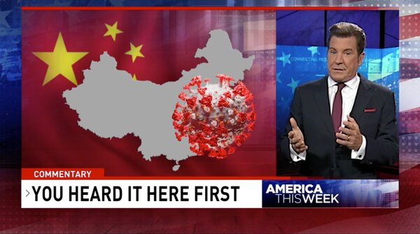 """Eric Bolling made unsubstantiated claims about the origins of the coronavirus on his Sinclair show, """"America This Week."""""""