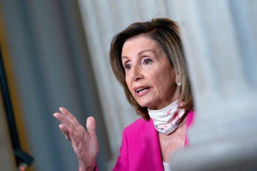 Speaker Nancy Pelosi at the Capitol on Sunday.