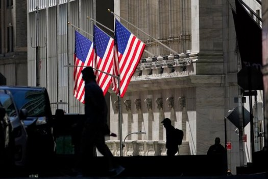 The New York Stock Exchange. U.S. stock futures indicated a gain on Wall Street at the start of trading on Monday.