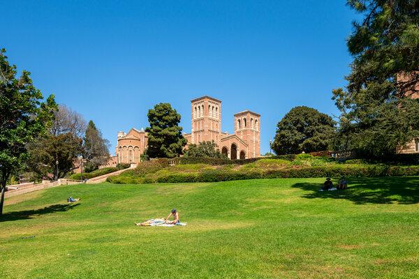 The U.C.L.A. campus.