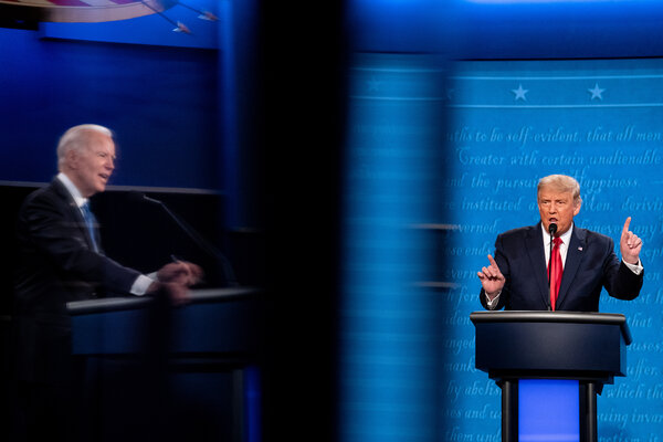 """President Trump deflected from his record on immigration during a debate with Joseph R. Biden Jr. on Thursday. Mr. Trump's """"zero tolerance"""" policy was a deliberate act of family separation, meant to deter migrants from trying to enter the United States."""