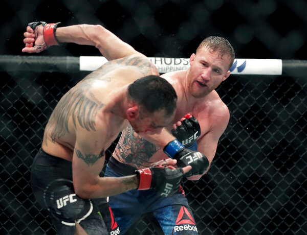 Justin Gaethje earned his title shot by overwhelming Tony Ferguson in May in the U.F.C.'s first major headliner after pausing because of the coronavirus pandemic.