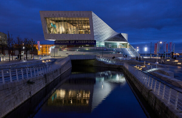 The Museum of Liverpool, one of the insitutions overseen by National Museums Liverpool, opened in 2011, in a waterfront building designed by the architects 3XN.