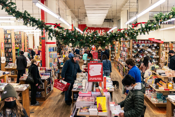 Customers at the Strand on Sunday. Its owner said that the previous day was the best one it had ever had in October.