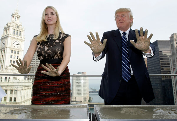 Ivanka and Donald J. Trump at a ceremony for his Chicago tower in 2008. His lenders have forgiven about $270 million in unpaid debt related to the Chicago project.
