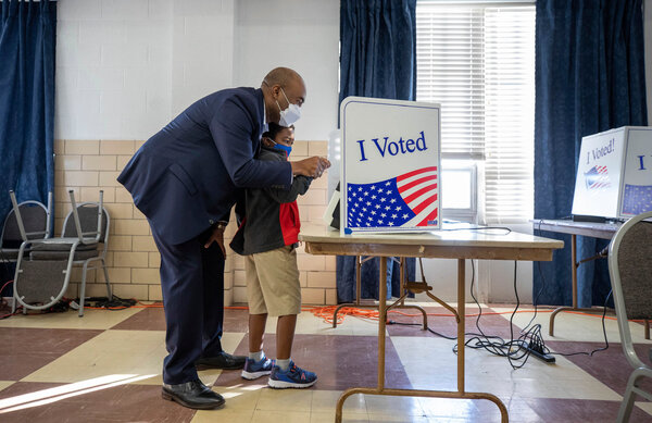 Jaime Harrison, a Democrat trying to unseat Senator Lindsey Graham of South Carolina, voted early in Columbia last week. Mr. Harrison recently broke the record for most cash raised in a single quarter.