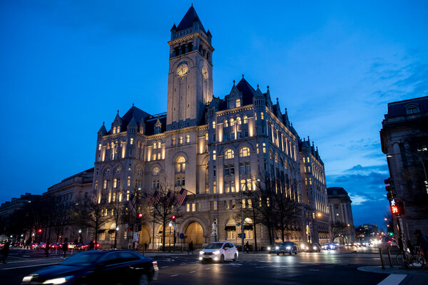 President Trump plans to host his election night party at his own hotel in the nation's capital despite the district's limits on large gatherings.