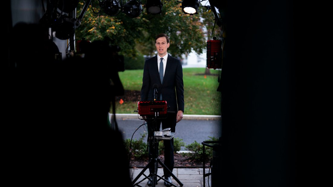 Jared Kushner, the president's adviser and son-in-law, during a television interview at the White House Monday morning.
