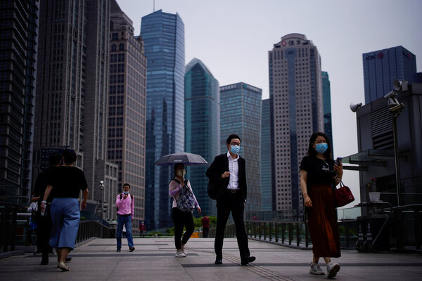 In Shanghai this summer. While many people have kept their jobs through the pandemic, millions more across China are working fewer hours at lower pay.