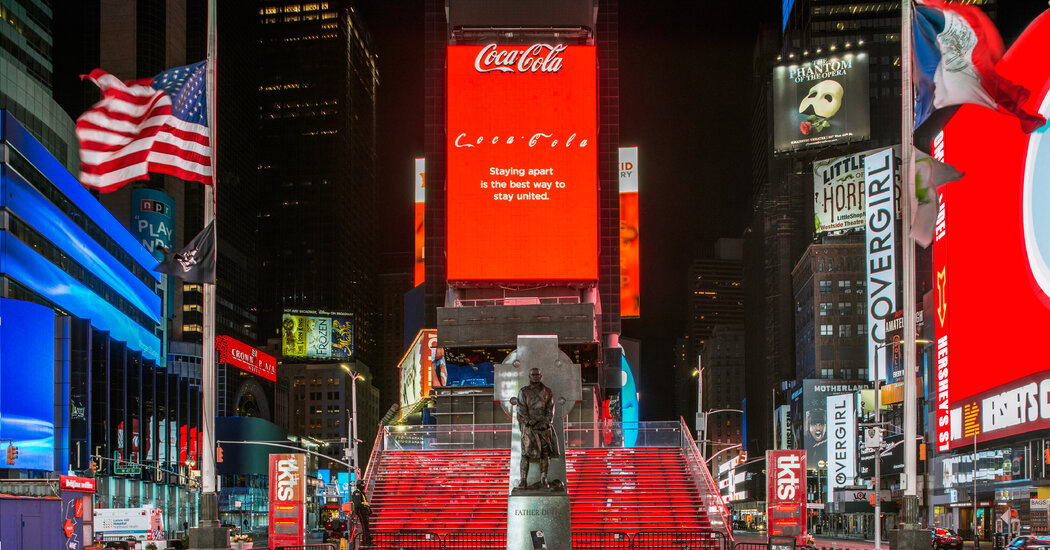 George Floyd Billboard Goes Up in Times Square