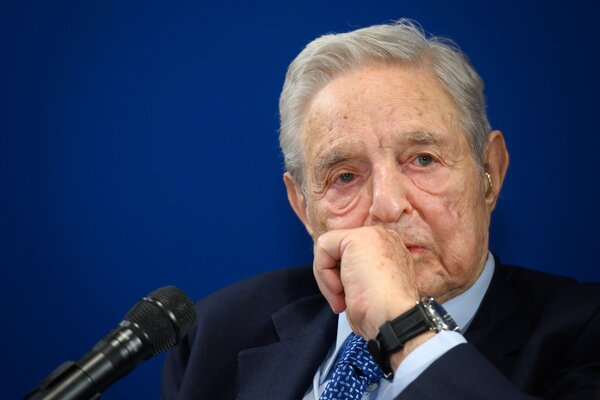 George Soros, the liberal financier who has featured prominently in right-wing conspiracy theories for years.
