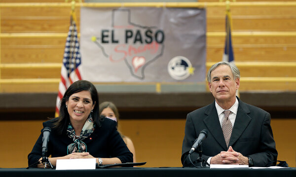 Gov. Greg Abbott of Texas Mr. Abbott said his Oct. 1 order limiting ballot drop boxes to one per county enhanced election security. Democrats and voting rights groups fiercely criticized the move.