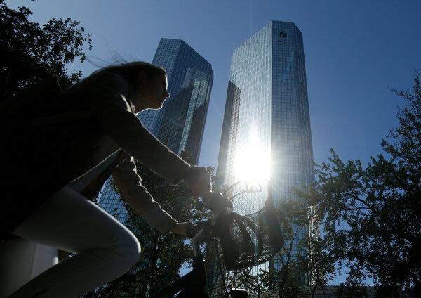 The headquarters of Deutsche Bank in Frankfurt, Germany.