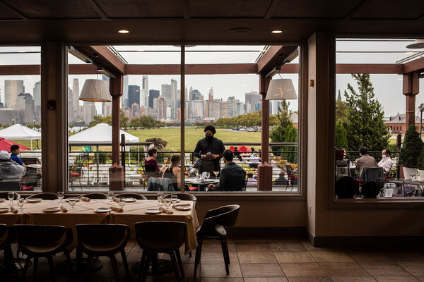 Diners at the Liberty House in Jersey City, N.J., in September. Businesses that survived the summer may have to close their doors during the winter.