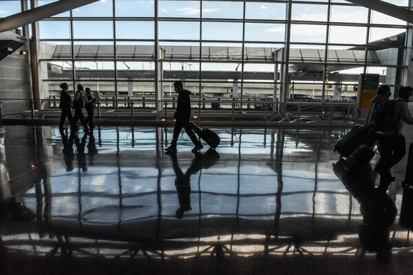 The departures terminal at John F. Kennedy airport earlier this month.