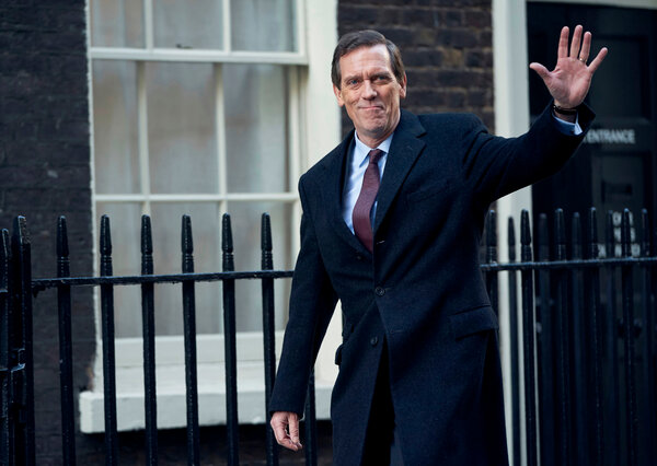 """In """"Roadkill,"""" Hugh Laurie plays a British politician who sold furniture and real estate before becoming a member of Parliament."""