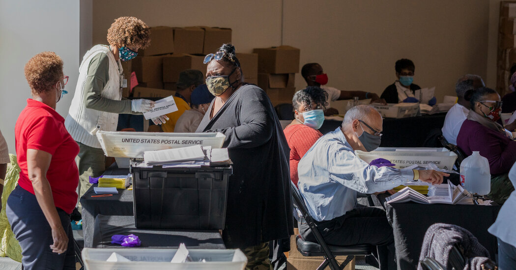 Fulton County, which includes most of Atlanta, is expected to finish counting its ballots overnight.