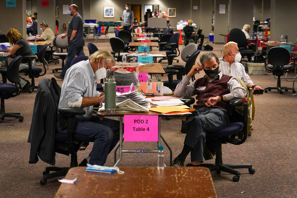 Counting votes in Milwaukee on Tuesday.