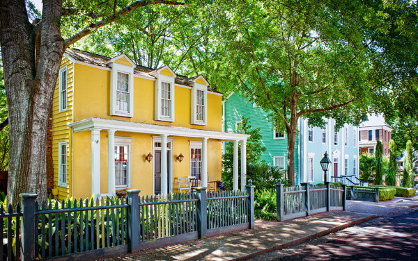 The Cotton District is a pedestrian-friendly mix of homes and businesses.