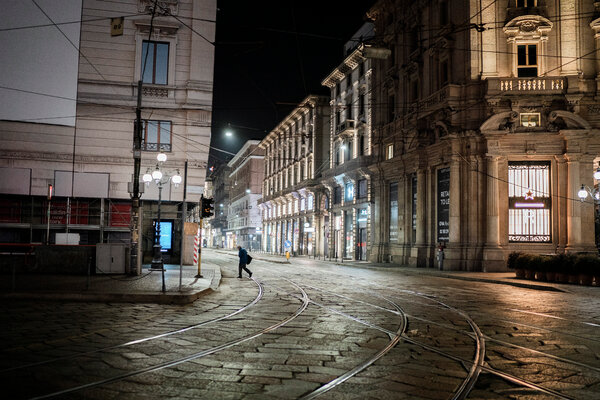 Milan on Friday. A significant portion of the country, including the Lombardy region, was put under lockdown by the government last week.