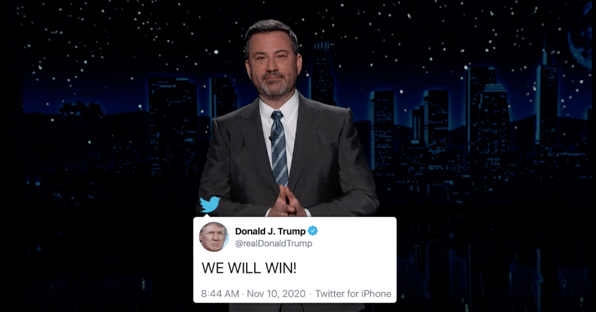 Jimmy Kimmel: Trump Is a Reality Show Host Who Can't Accept Reality