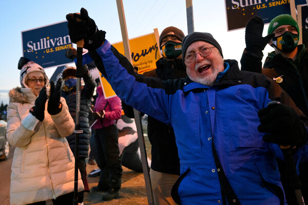 Representative Don Young of Alaska with supporters on Election Day.