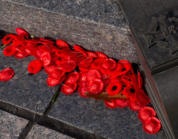 Canada uses symbols from World War I, including the poppy, to commemorate its dead from all wars.