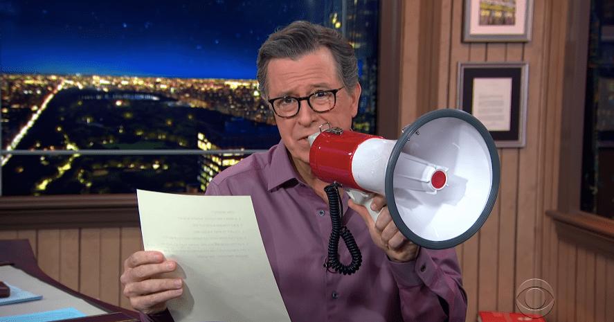 Trump Counts Crowd's Size Using 'MAGA Math,' Says Stephen Colbert