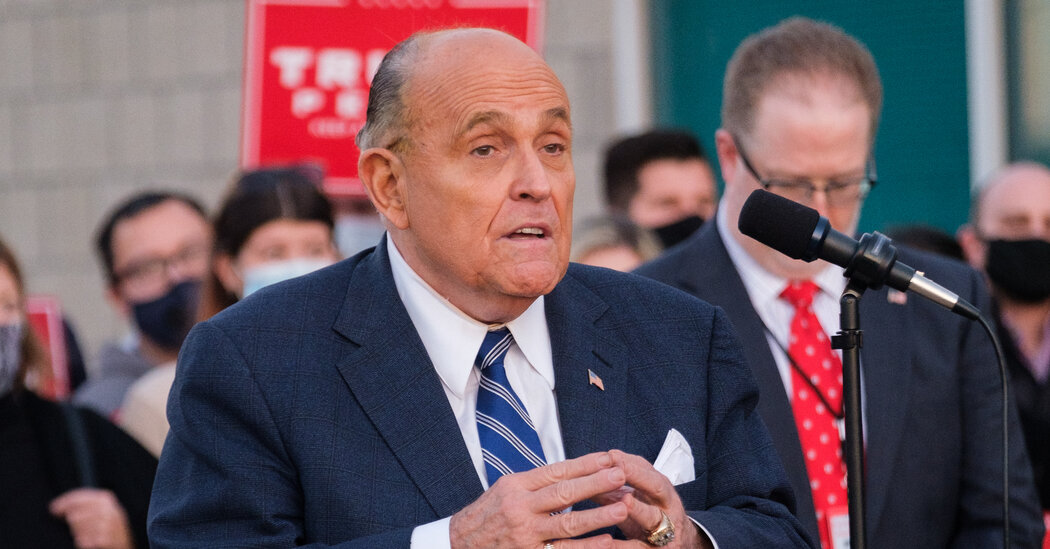 Giuliani Is Said to Seek ,000 a Day Payment for Trump Legal Work