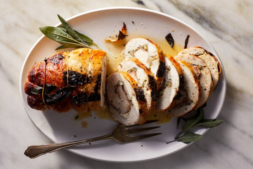 Turkey Breast Roulade With Garlic and Rosemary