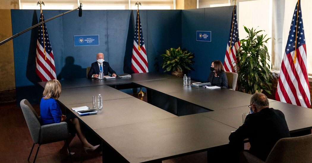 Meeting With Schumer and Pelosi, Biden Keeps Focus on Virus and Economy