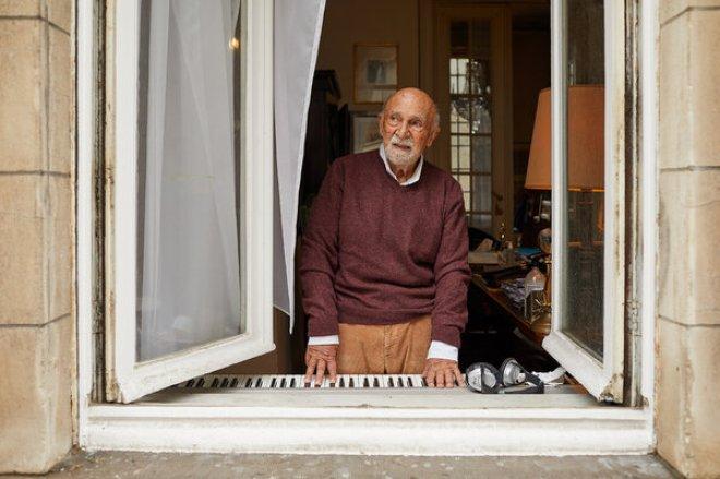 Simon Gronowski at his home in Belgium.