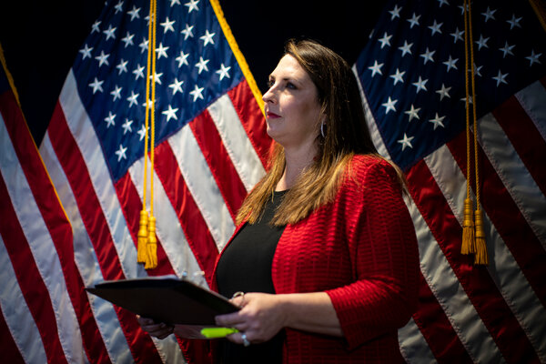 Ronna McDaniel, the chairwoman of the Republican National Committee, asked the state Board of Canvassers to delay the certification of Michigan's election results for 14 days.