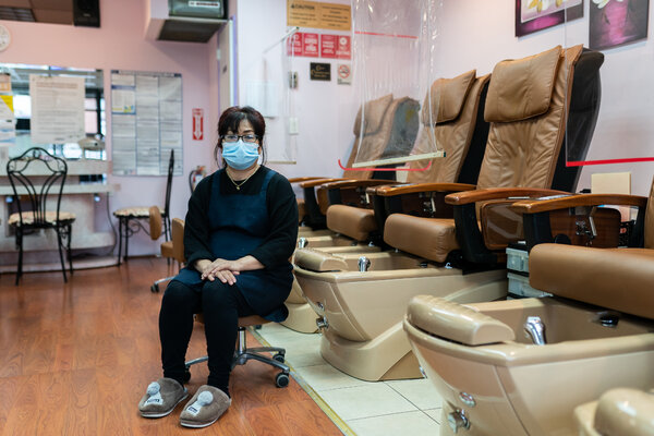 Juyoung Lee dreamed of opening her own business, but her nail salon in Flushing, Queens, has few customers now.