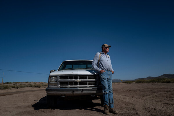 Bill McDonald, a rancher and lifelong Republican who voted for Joe Biden, is against the wall construction.