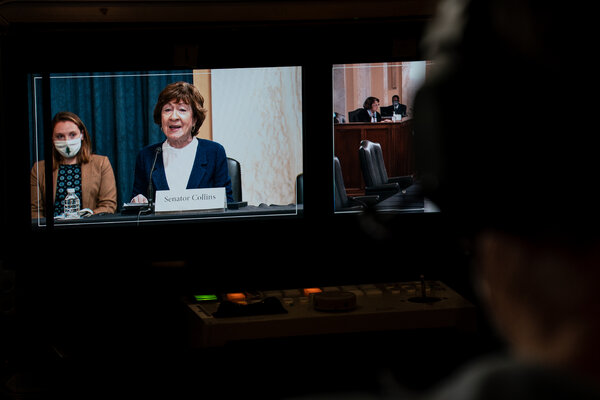 Senator Susan Collins during a hearing on Capitol Hill earlier this month.