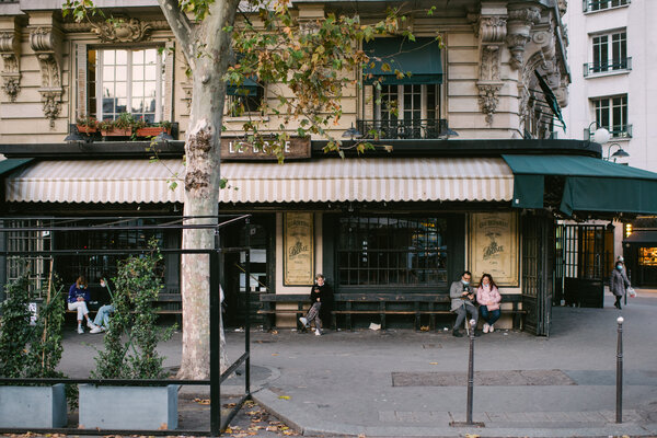 A restaurant in Paris this week that was closed under France's national lockdown. The country will begin loosening restrictions starting Saturday.