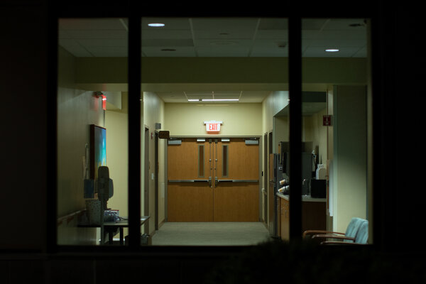 A hospital in Pipestone, Minn., last week.