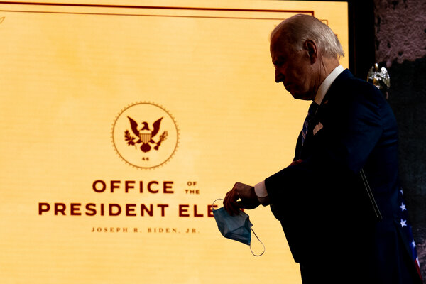 President-elect Joseph R. Biden Jr. received his first full intelligence briefing, though they typically begin for presidents-elect soon after the election.