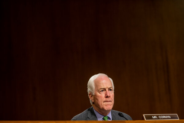 "Senator John Cornyn, Republican of Texas, said the lack of prior consultation with Republicans on Ms. Tanden's nomination was an ""unforced error"" by President-elect Joseph R. Biden Jr.'s transition team."
