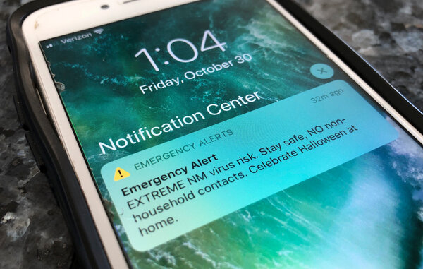 Some states are using emergency cellphone alerts regarding the coronavirus pandemic.