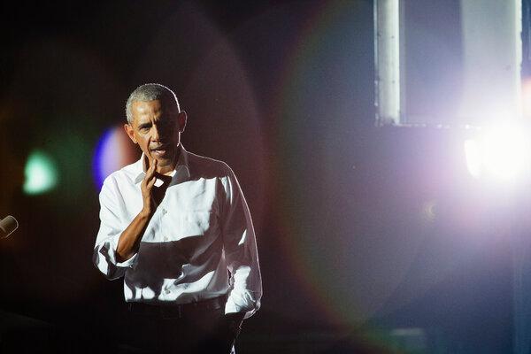 President Barack Obama campaigning for President-elect Joseph R. Biden Jr. in Miami last month.
