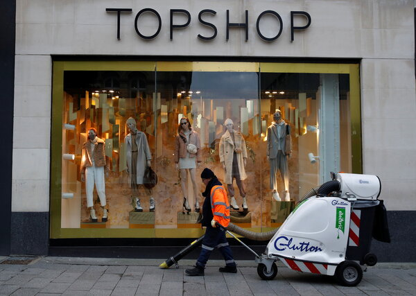A Topshop store in Liverpool, England. Its parent company, Arcadia Group, filed for bankruptcy protection earlier this week.