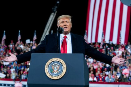 President Trump at a rally in Valdosta, Ga., on Saturday.
