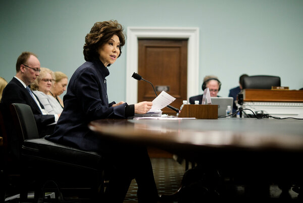 President Trump named Elaine Chao, the transportation secretary, to the board of trustees for the Kennedy Center for the Performing Arts, one of more than two dozen appointments that he made on Tuesday.
